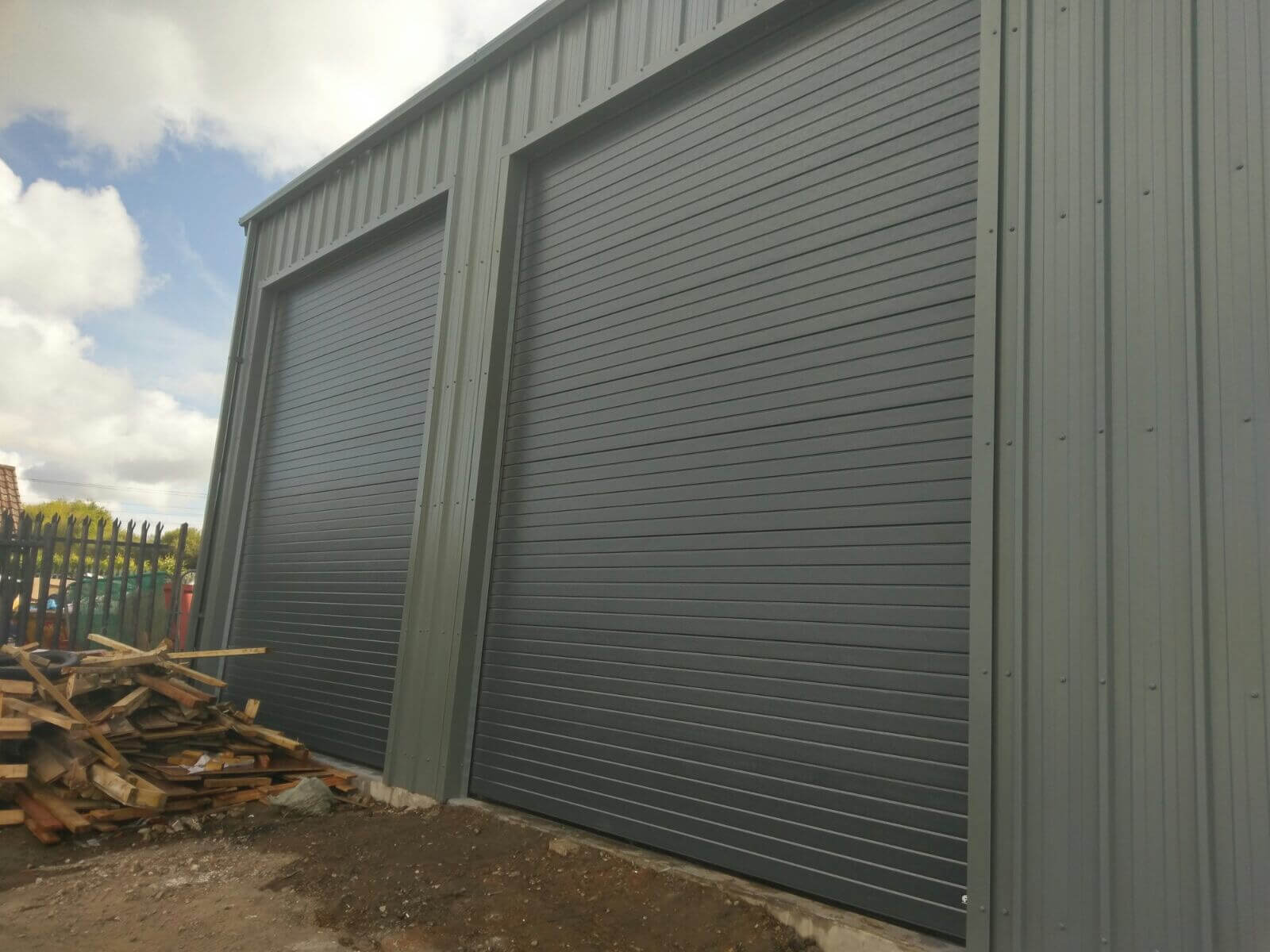 Green Industrial Sectional Doors