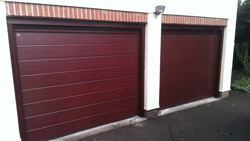 brown sectional garage doors