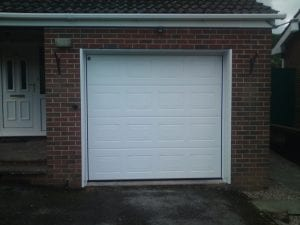 white sectional garage door