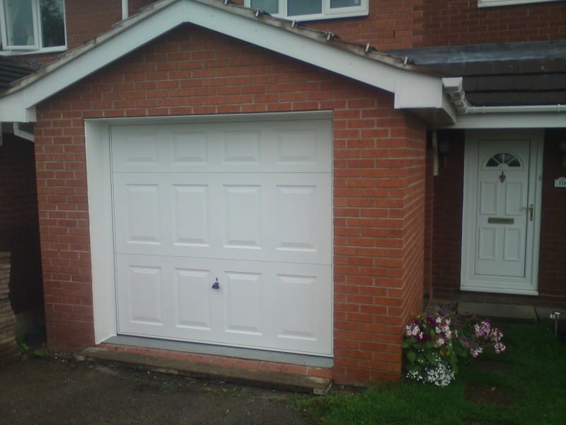white up and over garage door