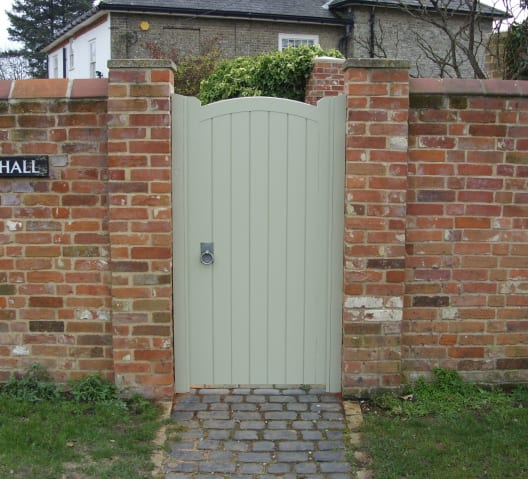 Torquil- A beautifully designed pedestrian side gate with a painted finish