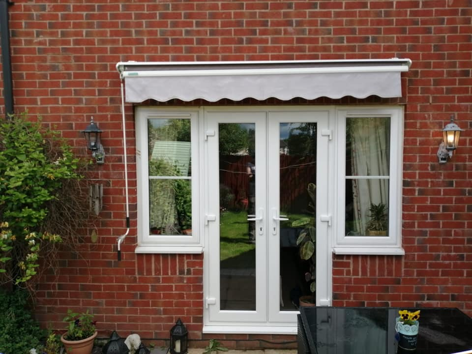 A set of UPVC french doors with standard cill in white with non scratchable glass.