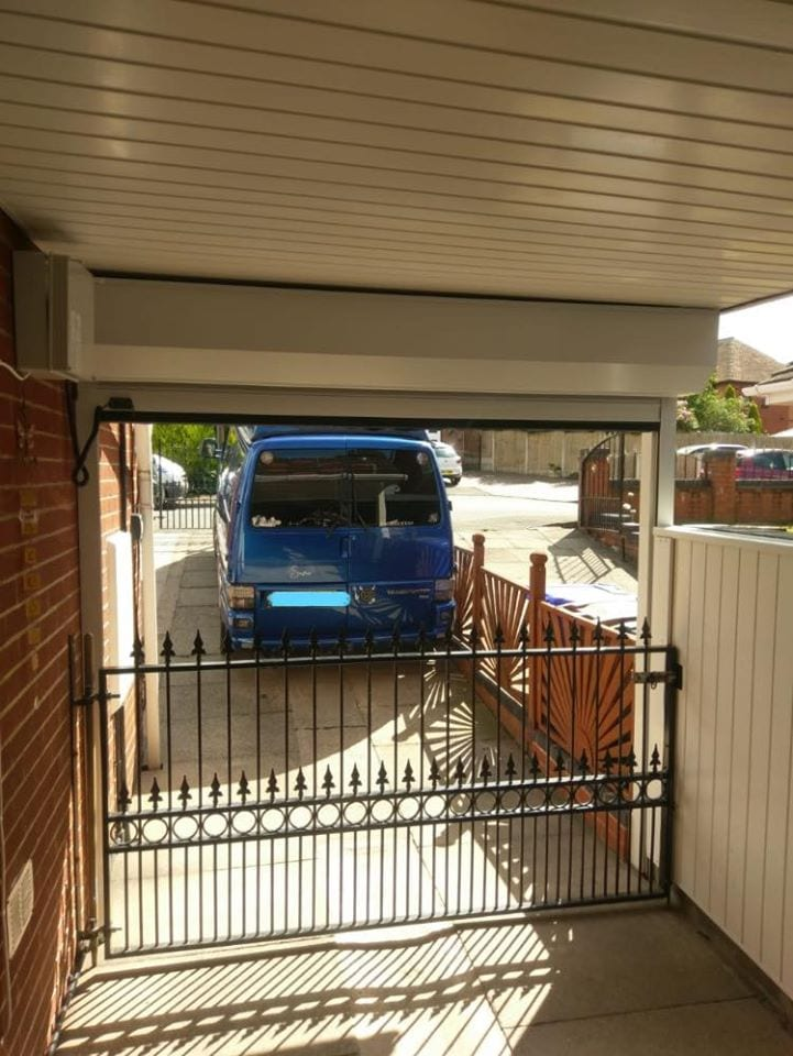 77mm Stylish roller door put to the entrance of a carport. We aim to meet any special requests from our customers